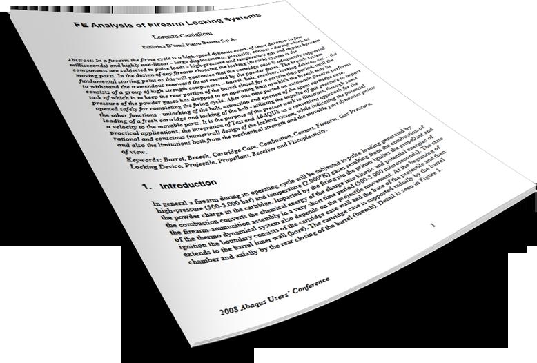 Beretta Firearm impact & crash analysis