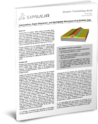 Earthquake Dam rock & soil modelling