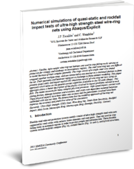 Rock Fall Impact Test impact & crash analysis