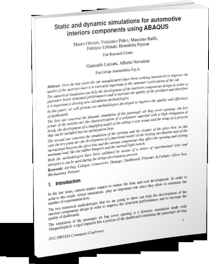 Dashboard Airbag impact & crash analysis